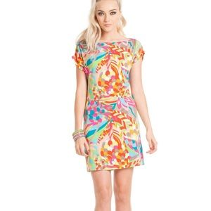 Trina Turk | Arena Jersey Dress Neon Colors Small